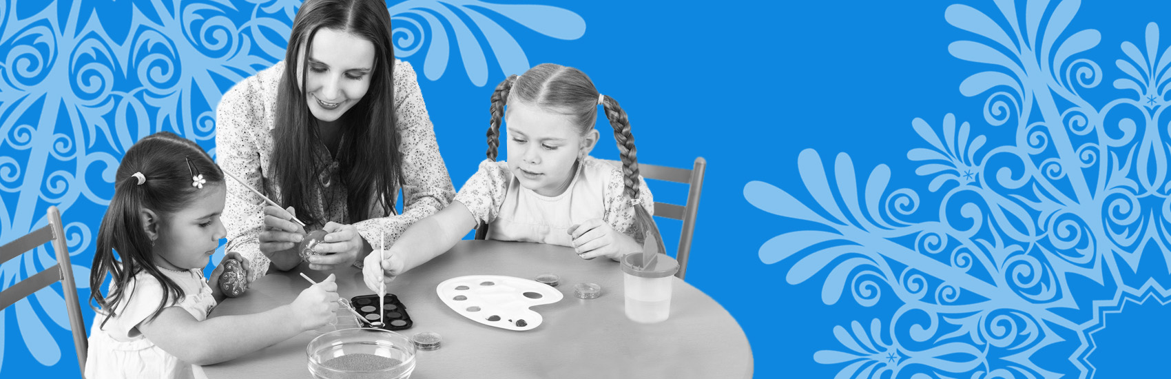 Организация интерактивных точек для детей в новогодние праздники